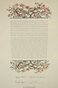 Our Jewish wedding contract